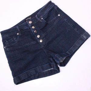 Bebe High Waisted Denim Shorts